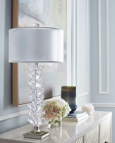Stacked Tulip Buffet Lamp by John-Richard Collection at Neiman Marcus.