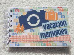 4x6 Vacation Chipboard Mini Scrapbook Album by SimplyMemories