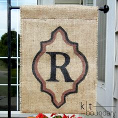 Personalized Initial Burlap Garden Flag by ktboundary24 on Etsy, $27.50