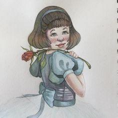 Rose! 🌹 #watercolor #watercolorpainting #kidlitart #sketch #sketchbook #sketchoftheday #kidlitart2017 #pencil #figuredrawing #conceptart #conceptartist #pencildrawing #comic #comicbook #comicbookart #portraitart #portraitartist #pencilportrait #portrait