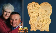 Surprise and delight your friends and family at your 50th wedding anniversary party with custom cookies by Parker's Crazy Cookies. They are a snap to order and come beautifully packaged, right on time!!