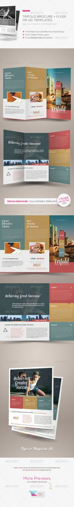Sunshine Construction Company Tri Fold Brochure Tri fold - printable tri fold brochure template