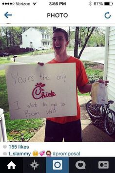 I love Chick-fil-A so this would be the perfect prom proposal for me