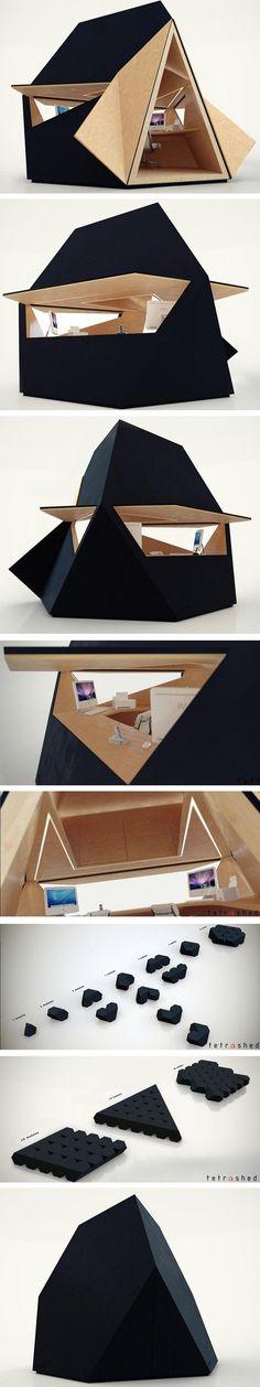 Bureau/module/noir/composition/former/déploiement/construction