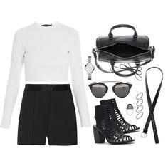 Untitled #538 by jennifer1297 on Polyvore featuring Proenza Schouler, MICHAEL Michael Kors, Forever 21, Yves Saint Laurent, FOSSIL, Christian Dior, H&M and ASOS