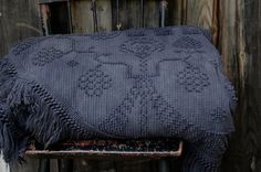 Hand Dyed Vintage Chenille Bedspread, Midnight Blue by Enhabiten - traditional - quilts - by Etsy