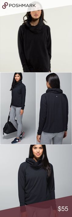 Lululemon Pullover Size 10 Black Super Comfy Black Pullover in Black Size 10 in very good condition lululemon athletica Tops Sweatshirts & Hoodies