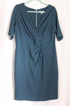 M&S Per Una Secret Support Bodycon Green Dress UK18 #MSPerUna #BodyconDress #Business