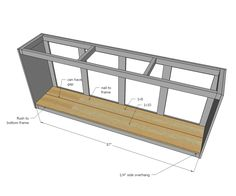 Use one of these free DIY TV stand plans for your own entertainment center for your flatscreen TV. Barn Door Cabinet, Barn Door Tv Stand, Barn Door Console, Diy Barn Door, Diy Door, Ana White, Diy Furniture Building, Diy Furniture Plans, Tv Stand Plans