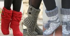 Here is a selection of 6 free and French patterns to knit comfortable slippers booties Source by gin Knitting Projects, Crochet Projects, Knitting Patterns, French Pattern, Crochet Diy, Comfortable Boots, Slipper Boots, Beautiful Crochet, Slippers