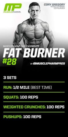 Killer workout! Takes about 45 minutes.