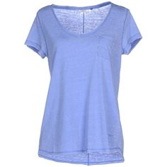 Only T-shirt (€24) ❤ liked on Polyvore featuring tops, t-shirts, pastel blue, short sleeve v neck t shirt, blue v neck t shirt, blue t shirt, v neck tee and v neck t shirts