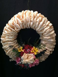 Corn husk Wreath  by MariesCornHuskDolls on Etsy