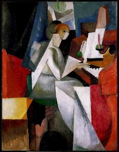 Albert Gleizes - Woman at the Piano, 1914 (Oil on canvas)