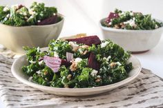 Beet and Kale Salad With Farro And Lemon Dressing   Dishing Up the Dirt