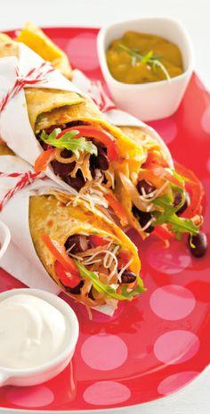 Wraps zijn gezond en lekker! Je kunt ze eten als lunch, maar ook als hoofdgerecht. Deze keer hebben we een lekker Mexicaans recept voor wraps.  http://www.vriendin.nl/koken/recepten/6786/recept-voor-mexicaanse-wraps-met-kidneybonen-en-guacamole