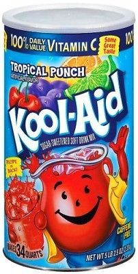 Drink Mixes 179192 Kool Aid Tropical Punch Makes 34 Quarts Buy It Now Only 13 79 On Ebay Drink Mixes Tropical Tropical Punch Kool Aid Mixed Drinks