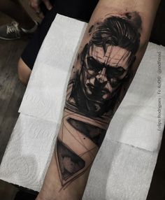 Awesome Superman tattoo by Felipe Rodrigues Fe Rod