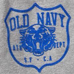 Old Navy Athl. Dept. San Fran California varsity graphic with tiger emblem