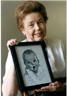 """In 1928,  Ann Turner Cook became the """"Gerber Baby."""" The """"Gerber Baby"""" symbol was introduced to help identify the new product. It was first used in a baby-food advertisement in Good Housekeeping. Within sixty days, Gerber Strained Foods using the """"Gerber Baby"""" symbol had gained national recognition and it was distributed to various places throughout the United States. It became internationally recognized."""