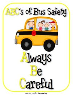 back to school bus craftivity {and a safety lesson, too!} - A Cupcake for the Teacher - TeachersPayTeache. School Bus Safety, School Bus Driver, School Buses, Learning Activities, Kids Learning, School Bus Crafts, Safety Crafts, Transportation Unit, Teacher Sites
