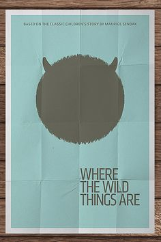 Where the wild things, minimalist movie posters by Pedro Vidotto