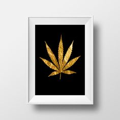 Marijuana Leaf Art, Jamaican Ganja Leaf, Herb, Jamaican Herb, Wall Art, Cannabis Art, Jamaican Cannabis, High Grade, Photo, INSTANT DOWNLOAD