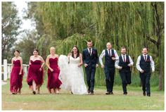 Fun Bridal Party Photos at Redcliffe on the Murray in Pinjarra. Photography by Trish Woodford Photography Rainy Wedding, Rustic Wedding Venues, Father Daughter Dance, Happy Marriage, Bridesmaid Dresses, Wedding Dresses, Party Photos, Bride Groom, Wedding Photography