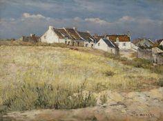 ■ HAWKINS, Louis Welden (French, 1849-1910) - Paysage de Bretagne. Oil on canvas 40 x 54 cm (Restoration) ■ Луис Велден ХОУКИНС - Пейзаж Бретани (Реставрирован)