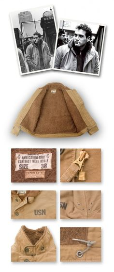 Buzz Ricksons Europe - Jackets : Type N-1 Deck, Khaki, Seawater Wash Work Types Of Jackets, Work Jackets, Vintage Wear, Vintage Outfits, Vintage Fashion, Post Apocalyptic Clothing, I Love Fashion, Mens Fashion, Men's Leather Jacket