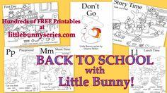 Little Bunny series Free Preschool, Preschool Worksheets, Free Printable Worksheets, Free Printables, Teaching Abcs, Adorable Bunnies, Bunny Book, Love Parents, Reading Worksheets