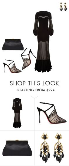 """# formal charity event"" by andrea-jones-4 ❤ liked on Polyvore featuring Alexander McQueen, Christian Louboutin and Gucci"