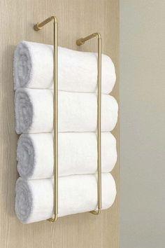 Bathroom Towel Storage, Hand Towels Bathroom, Towel Shelf, Small Bathroom, Bath Towel Racks, Towel Holder For Bathroom, Towel Racks For Bathroom, Bath Rack, Towel Rod