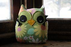 owl pillow stuffed owl plush owl decor owl toy by 5orangepotatoes
