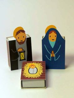 DIY nativity scene doubling as an advent calendar- reveal an item each day and the matchbox has a treat inside! (Cool Crafts With Candy) Christmas Nativity Scene, Nativity Crafts, Noel Christmas, Christmas Crafts, Nativity Scenes, Art Matchbox, Matchbox Crafts, Nativity Advent Calendar, Theme Noel