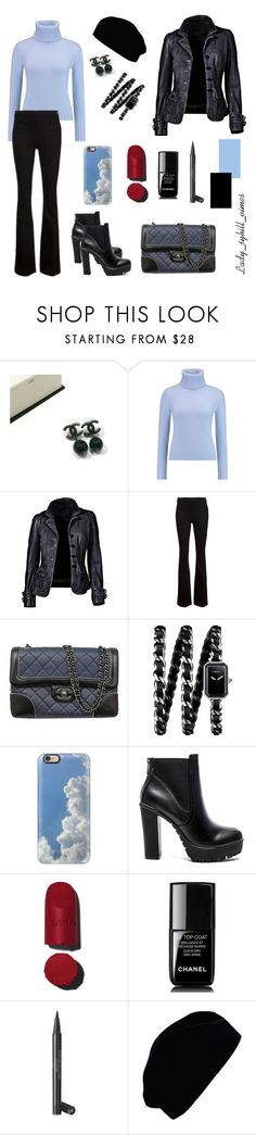 """Без названия #75"" by lady-sybill-vimes on Polyvore featuring мода, Chanel, N.Peal, Frame Denim, Casetify, Steve Madden и Giorgio Armani"