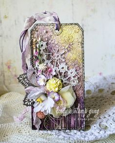 Floral Tag Video Tutorial for Lindy's Stamp Gang