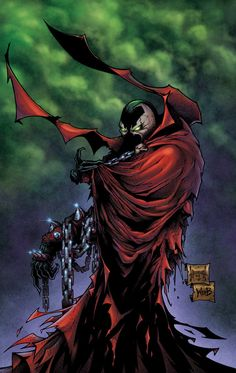 Story behind this--Chad wanted to draw something Spawn-related to take to the Comicon in Phoenix and have Greg Capullo to sign it (not the first time he. Comic Book Covers, Comic Books Art, Comic Art, Book Art, Spawn Comics, Anime Comics, Star Wars Poster, Star Wars Art, Star Trek