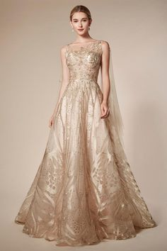 Andrea & Leo Couture is a Monarch Butterfly Lace A-line Gown featuring a Tulle Cape and open back. Evening Dresses, Prom Dresses, Wedding Dresses, Ball Dresses, Cape Sleeve Dress, Gown Dress, Reign Dresses, Bride Gowns, A Line Gown