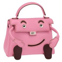 e9d21d86623 Hermes Limited Edition Pink Swift Leather Quelle Idole Kelly Doll Bag  JaneFinds