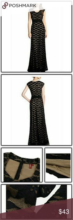 """NWT'S Black/Nude Lace Cap Sleeve Maxi Dress Mermaid style gown NWT's and in bag Hidden back zipper closure  Plenty of stretch Size Large/10/12 Such a beautiful dress Paid $49 Length 58"""" Bust pit to pit 18"""" High Waist 16"""" Waist 17"""" Hips 201/2"""" Muisol Dresses Maxi"""