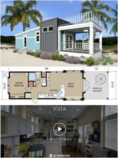 Tiny, yet stunning! Live your dream vacation in this contemporary coastal cottage. You'll love the rooftop terrace, functional living spaces and modern design. You have to see the inside to believe it!