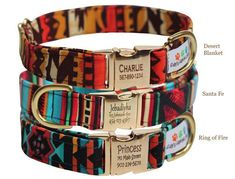 Personalized Aztec Dog Collar Tribal by FidosFashionCollars