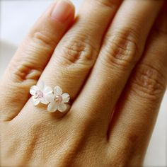 an ultra-feminine ring. Can't you tell I love flowers?