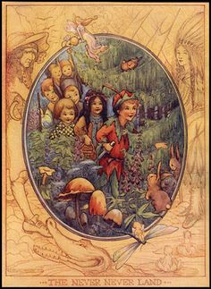 from PETER PAN'S ABC (London: 1913): illus. by Flora White.