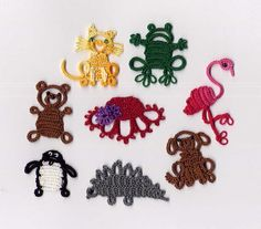 needle tatting patterns | Introduction to Block Tatting with a Bunch of Little Animals....and a ...