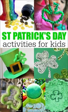 These St. Patrick's Day Activities for Kids will give you plenty of options to add some festive touches to your home. Best of all, the St. Patrick's Day activities will keep kids having fun and learning.