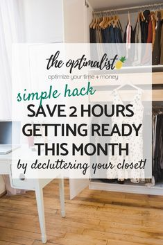 Are you sick & tired of not finding anything to wear with a closet full of clothes? Then its time to declutter your closet for good! Click through to use the template I used to purge my belongings for good and the ONE HACK I use to make sure it remains Money Saving Tips, Time Saving, Life Advice, Spring Cleaning, Frugal Living, Sick, Improve Yourself, How To Make Money, Told You So