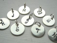 Personalized Silver Initial Charm for a by AkulaHopeDesigns, $9.00