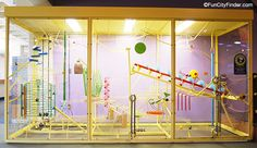 Photo of an exhibit at the Indianapolis Children's Museum in Indianapolis, Indiana